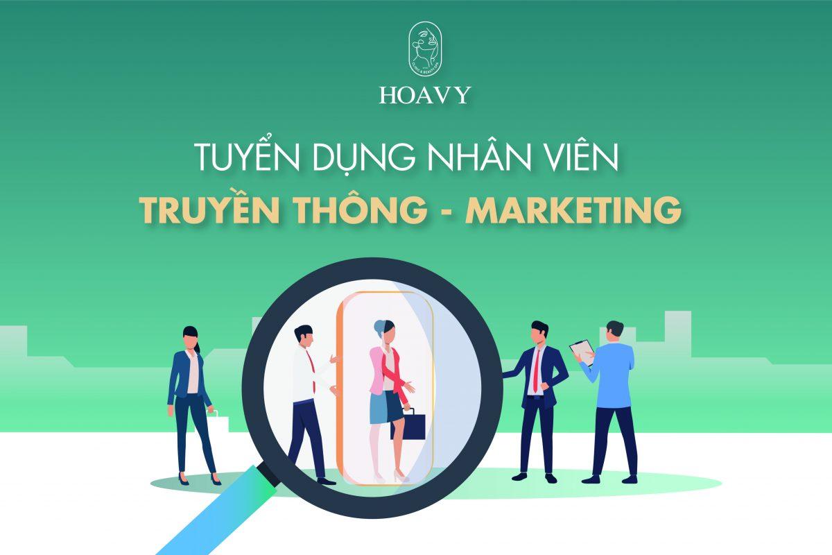 tuyển dụng team marketing tại thẩm mỹ Hoa Vy tại Hải Phòng